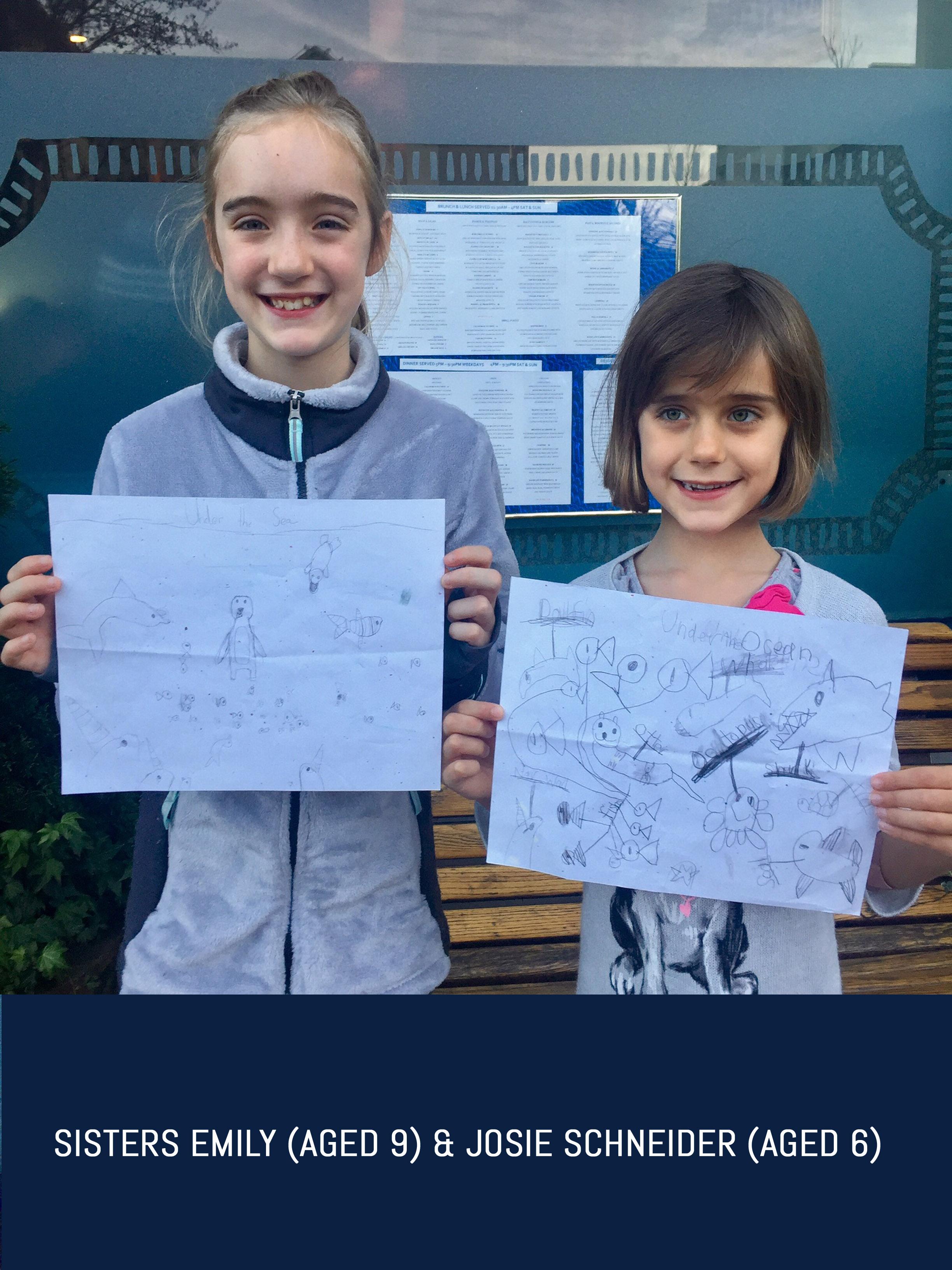 Sisters Emily (aged 9) & Josie Schneider (aged 6).